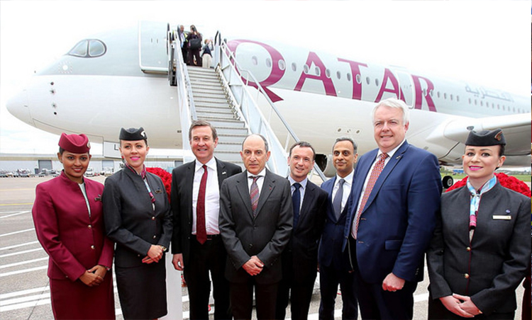 Qatar Airways flight from Doha to Cardiff is off to a flying start
