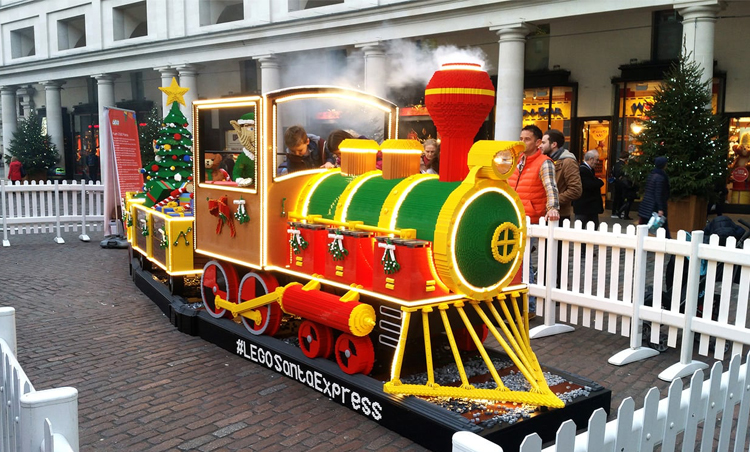 A train made from LEGO® bricks is coming to Cardiff this Christmas