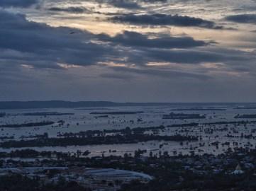 Sunset view of the Ayeyarwady from Mandalay hill