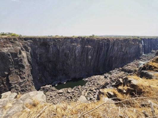 The Dry Eastern End of the Falls