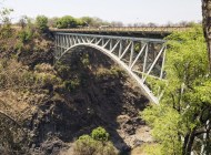 Victoria Falls Bridge which links Zimbabwe and Zambia.