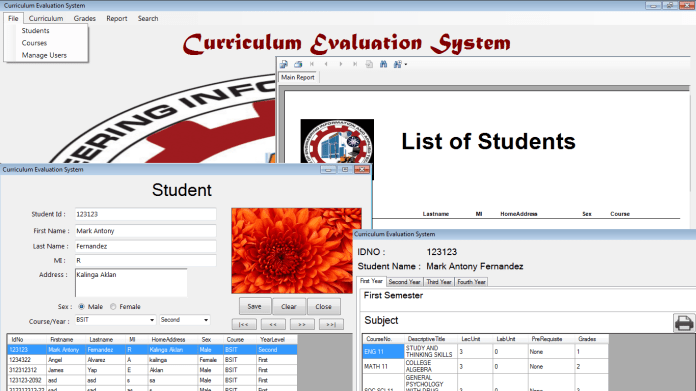Student Evaluation System