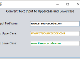 Text Input into Lowercase and Uppercase Value using Java