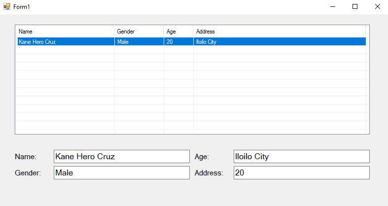 How to Retrieve Data from ListView to Display in Textbox