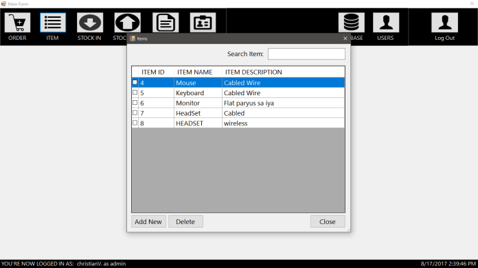 Computer Hardware Inventory System using MYSQL in VB.Net