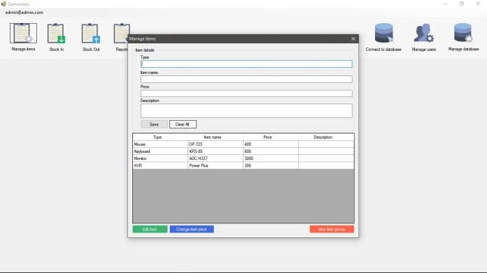 Zenventory Gadgets Inventory System using MySql in VB.NET