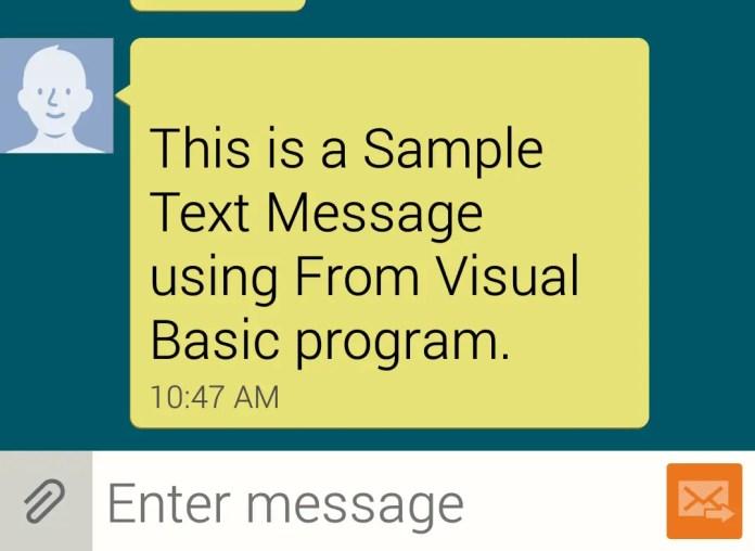 send text message vb.net