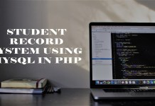 Student Record System using MySql in PHP