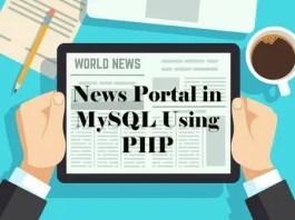 News Portal in MySQL Using PHP