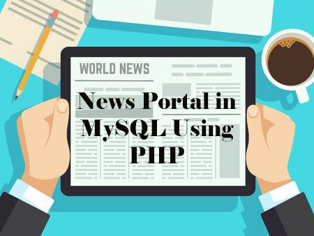 News Portal Project in PHP MySQL Free Download