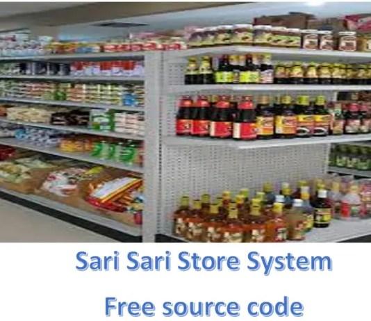 Sari sari store system free source code