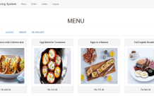 Online Food Ordering System Source Code