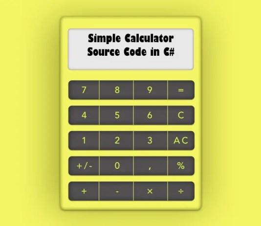 Simple Calculator Source Code in C#