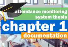 Attendance Monitoring System Thesis Documentation | Chapter 1