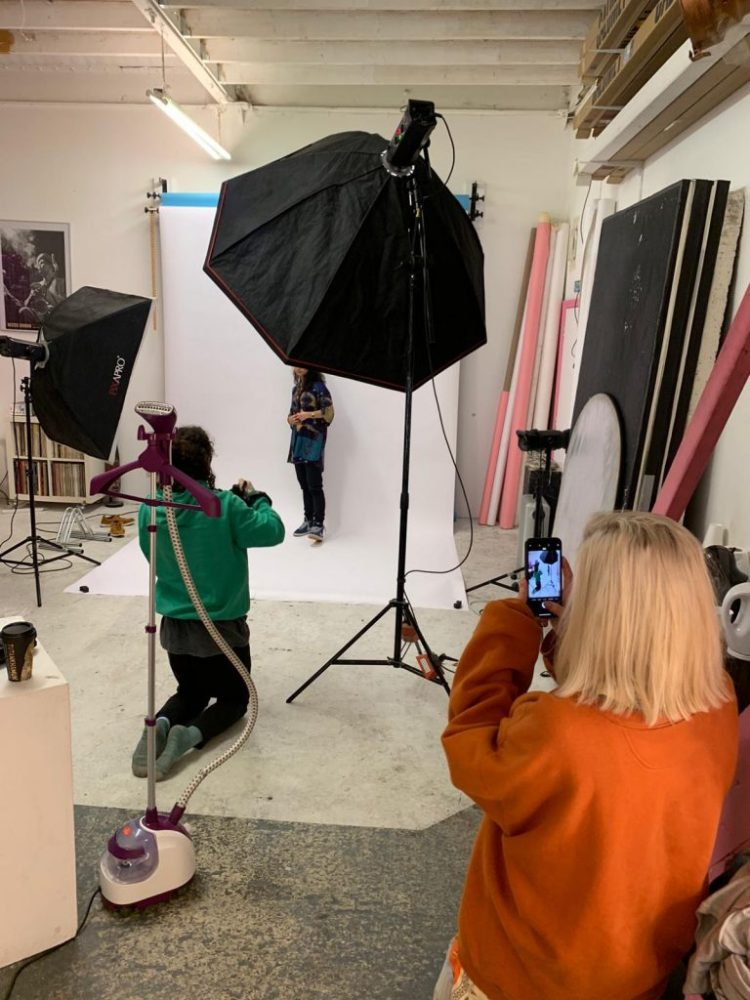 Behind the scenes on a fashion photoshoot from George Hodson Photography