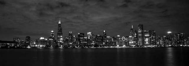 London skyline black and white