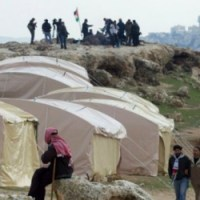 Protest tent in Shuafat against land confiscation