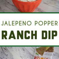 Jalapeño Popper Ranch Dip Recipe + Primizie Crispbreads