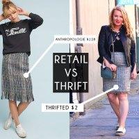 Thrift VS Retail | Anthropologie Inspired Thrifted Skirt