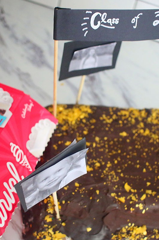 Chocolate Covered Ice-Cream Cake For Your Special Grad