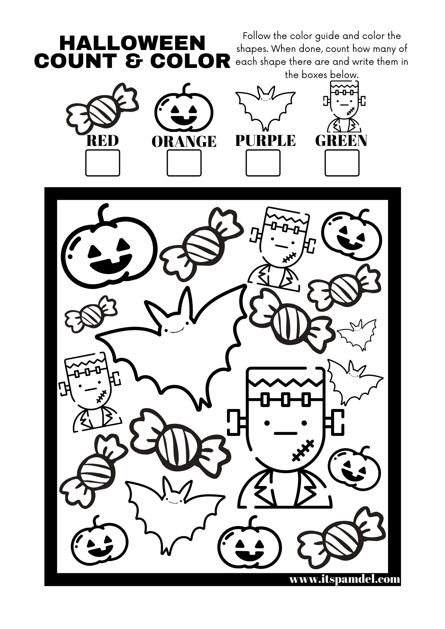 Free Printable Halloween I Spy Count And Color Activity
