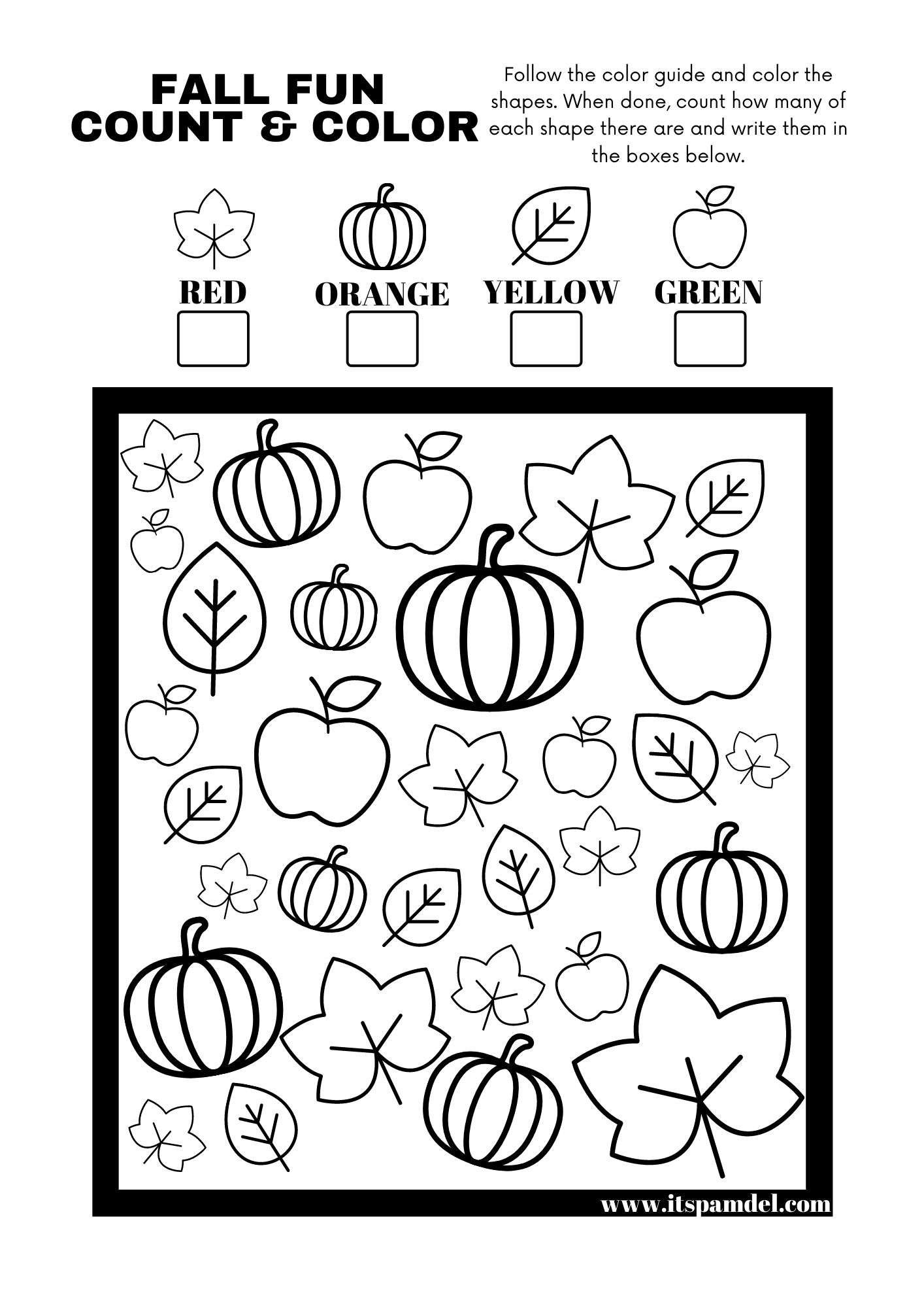Free Printable Fall Fun I Spy Count And Color Activity