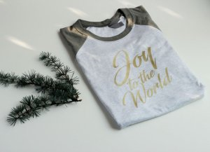 Joy to the World Christmas tee