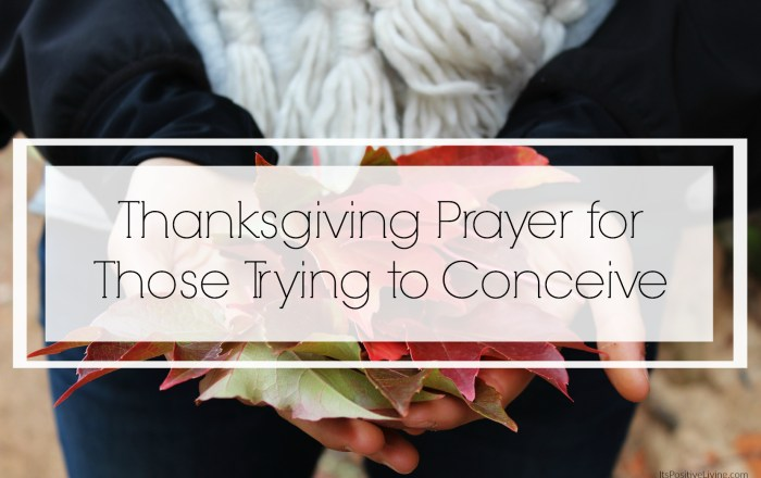 Thanksgiving Prayer for Those Trying to Conceive