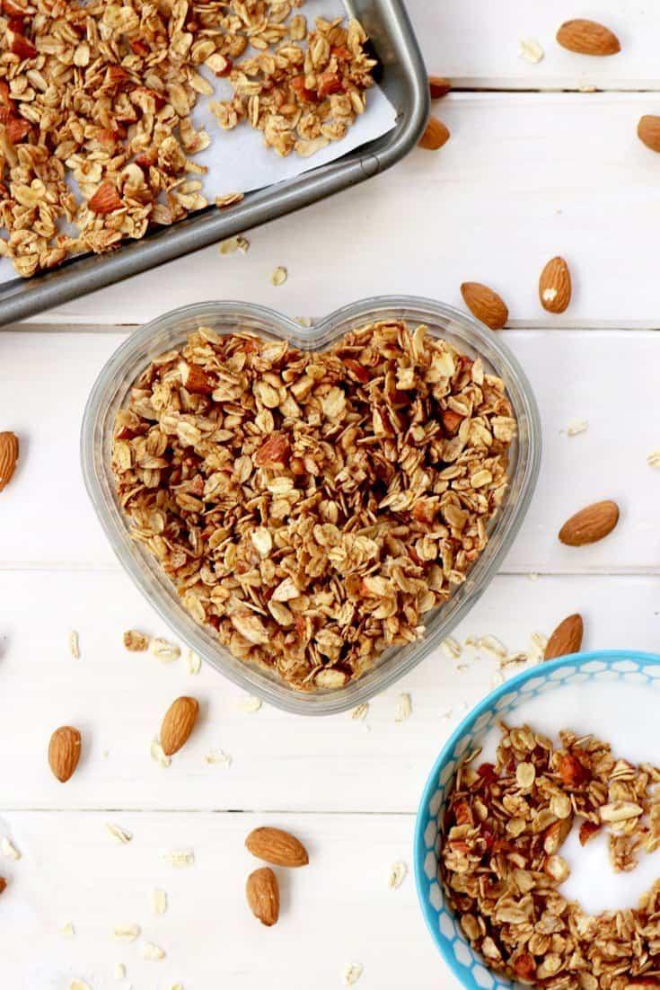 Homemade granola recipe breakfast ideas its raining flour homemade granola homemade granola recipe granola granola recipe healthy granola best forumfinder Choice Image