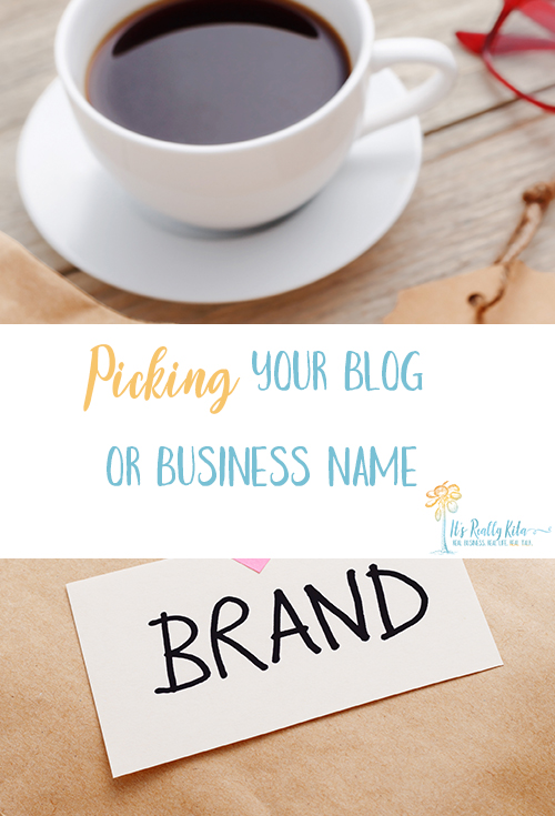 picking your business or blog name