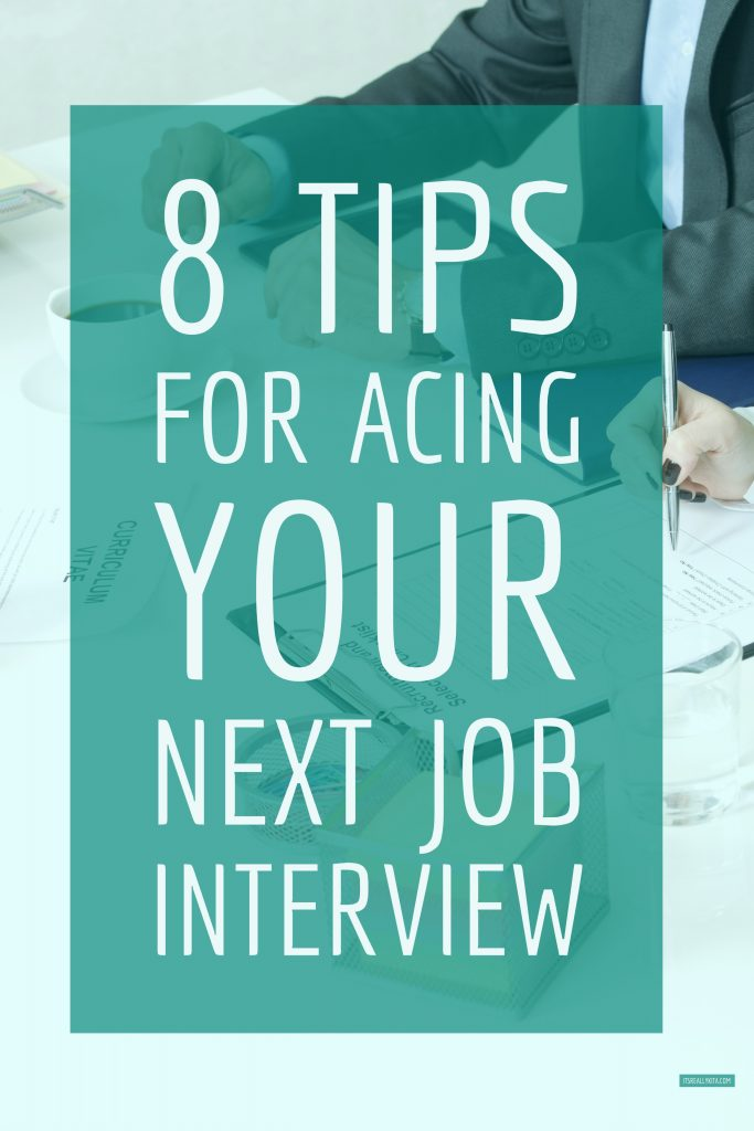 8 tips for acing your next job interview