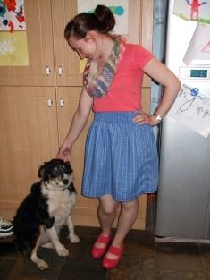 Skirt + dog!