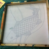 silk painting - tracing
