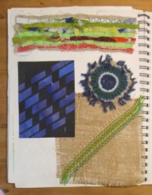 experimenting with weaving