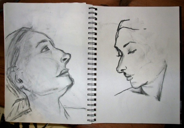 charcoal faces