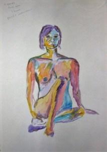 watercolour sitting