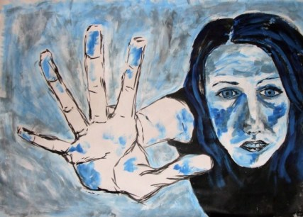 Blue reaching