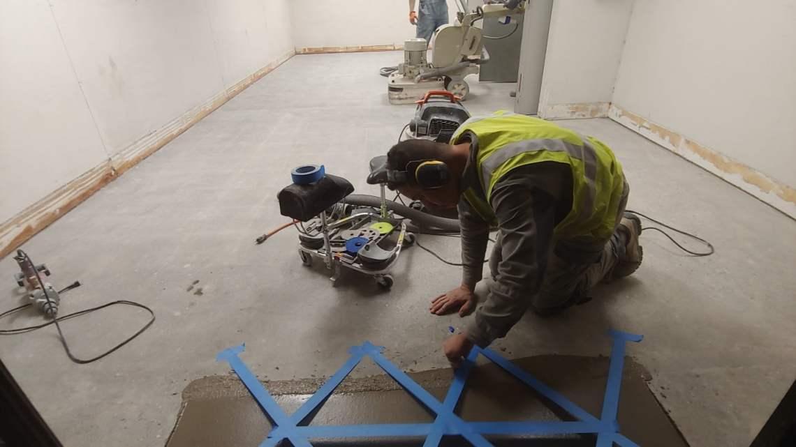 Polished Concrete Floor Retail Store