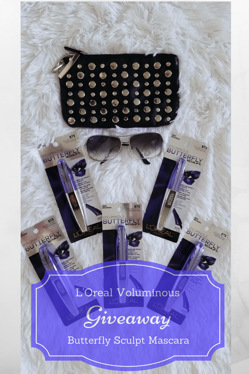 L'Oreal voluminous butterfly sculpt mascara giveaway
