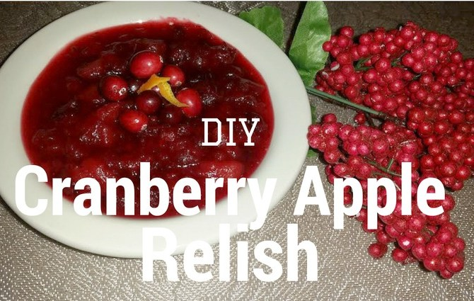 diy cranberry relish