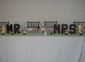 Head table - came through at the last minute