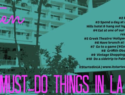 Must-do things in LA