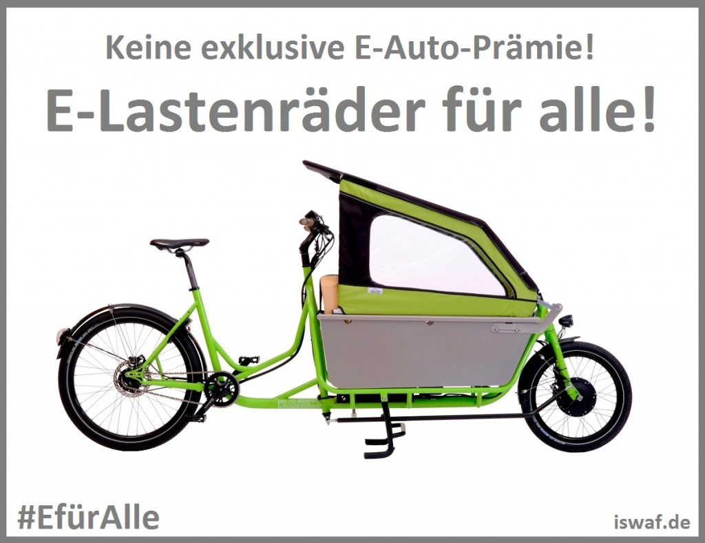 Sharepic EfürAlle Lastenrad iswaf.de