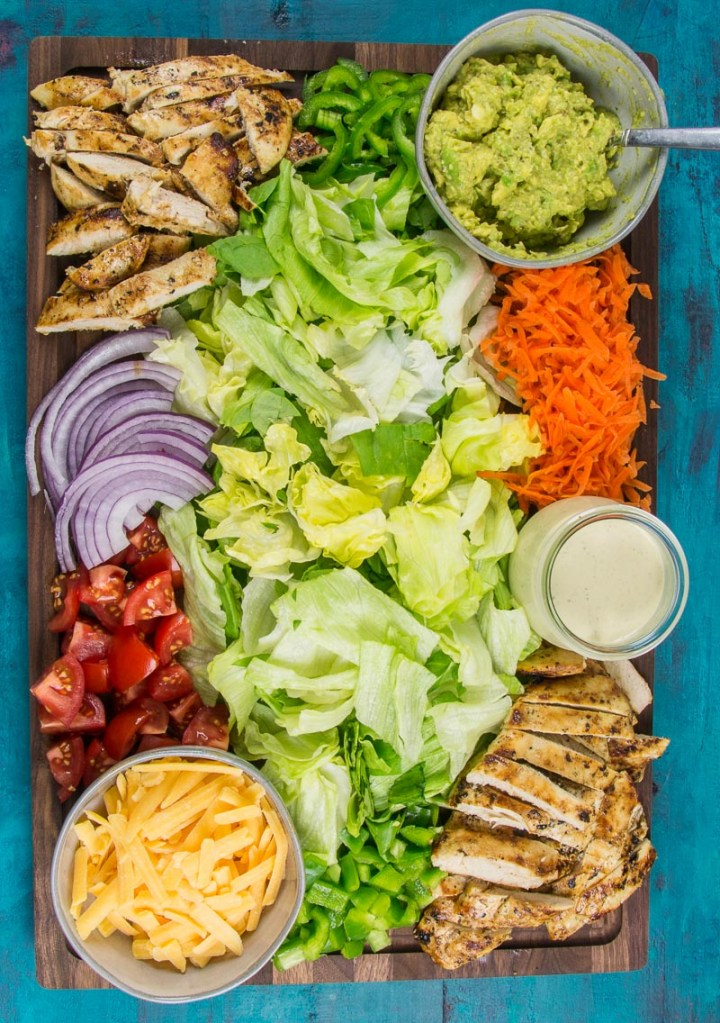 Chicken Taco Salad Board