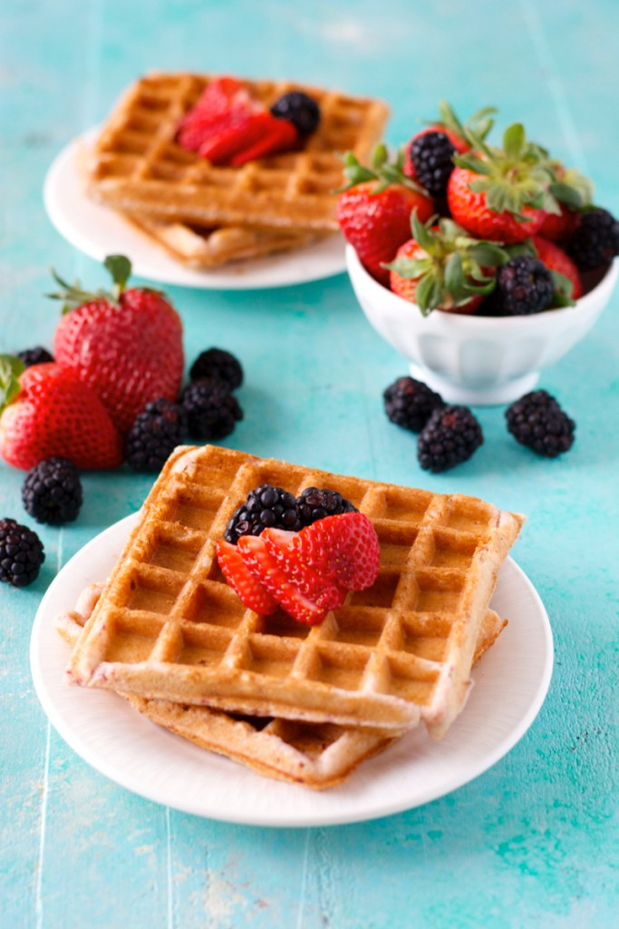 Gluten-Free Strawberry Vanilla Buttermilk Waffles