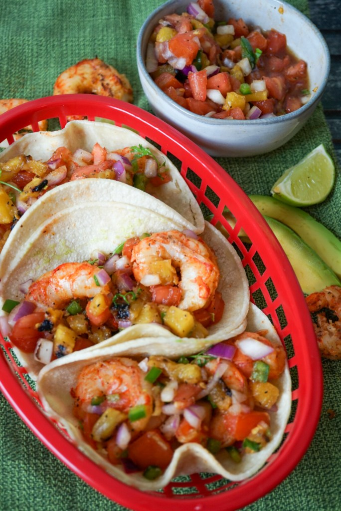 Grilled Shrimp Tacos with Pineapple Salsa
