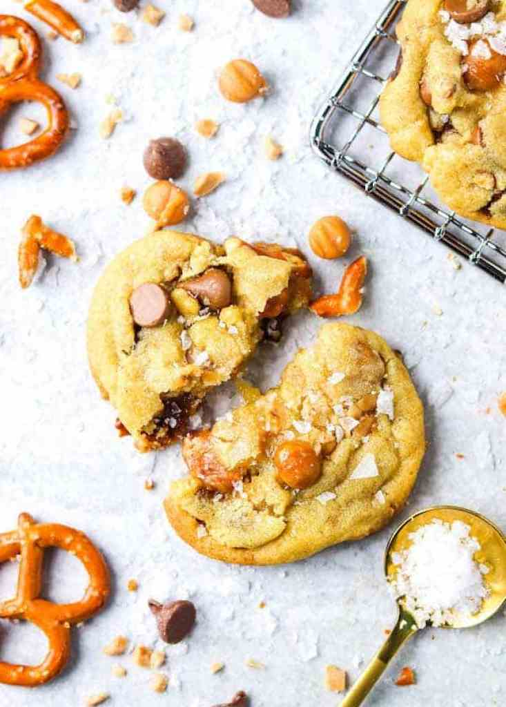 This copycat Panera kitchen sink cookie recipe makes the best chewy, sweet, and salty cookies! Save yourself a trip and make them at home with this recipe!
