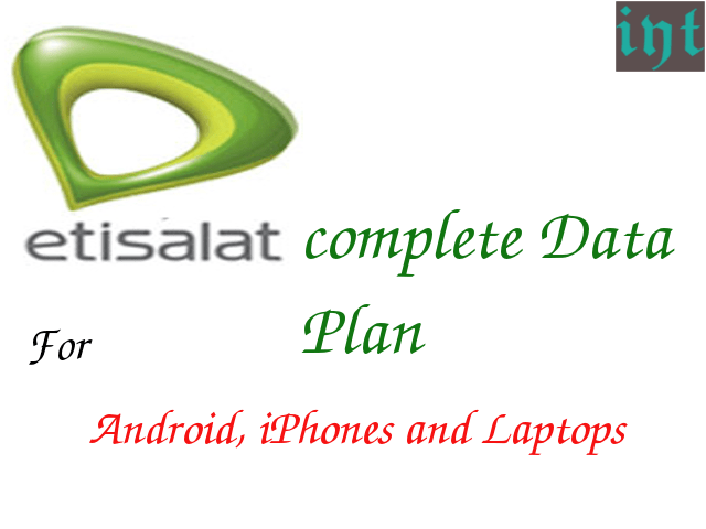 Etisalat data plans for android and Iphones