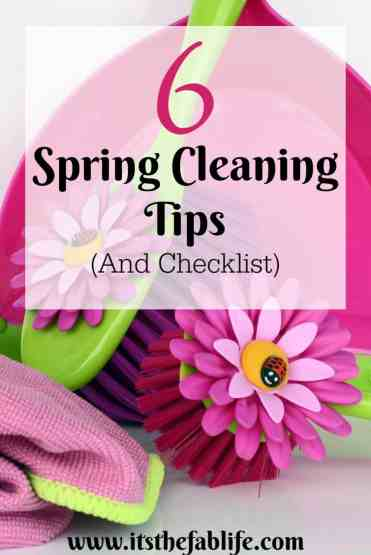 6 Spring Cleaning Tips & Checklist | Home Management | Spring Cleaning | #springcleaning #cleaning #housecleaning