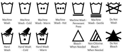 Laundry Symbols | Washing Clothes